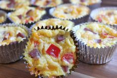 Ham, Egg and Cheese Breakfast Cupcakes
