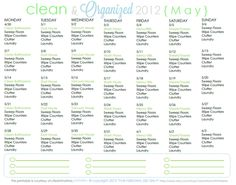 Wanna join me for another month of cleaning + organization?  FREE Cleaning Schedule for May - Clean Mama Printables