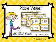 PLACE VALUE - DIGIT VALUE- 20 TASK CARDS FREEBIE from TeachToTell on TeachersNotebook.com -  (9 pages)  - The vibrant colors and attractive graphics in these 20 task cards are sure to get your students motivated and excited about learning.