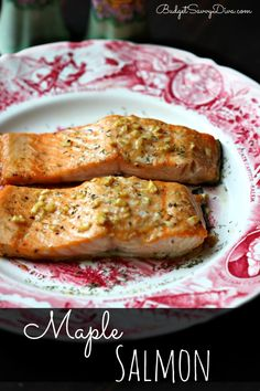 BEST SALMON RECIPE EVER! Simple and Perfect. Gluten Free Version included in the recipe - Done in under 25 minutes - Baked Maple Salmon Recipe #recipe #salmon #glutenfree #budgetsavvydiva via budgetsavvydiva.com