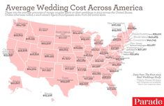 The Average Cost of a Wedding in Each Region of the U.S.