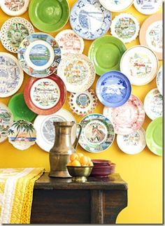 decor, idea, plates, souvenir, plate collect