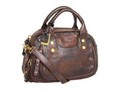 Frye Elaine Vintage Satchel Dark Brown Antique Pull Up - Zappos.com Free Shipping BOTH Ways
