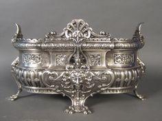 Silver over Bronze Planter, Frenc 19th Century