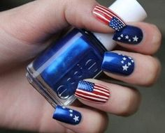 DIY 4th of July Nail Art