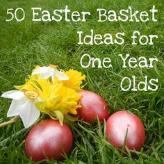 50 Easter Basket Ideas for older babies / younger toddlers #ad