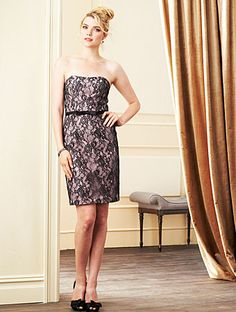 Alfred Angelo Bridesmaid Style 7263S in Black/Love's First Blush