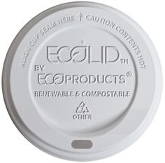 "EcoProducts makes sustainable disposable products out of ""corn plastic"" and compostable products instead of styrofoam or plastic."