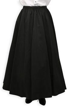 Twill Bustle Skirt - Black $79.95