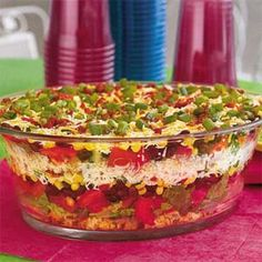 Southwest Cornbread Salad -yhere is NEVER any left over.