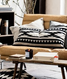 coffee tables, pattern, cushion covers, black white, product detail, pillow covers, homes, southwest style, couch pillows
