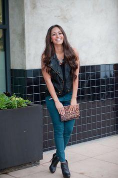 OOTD: Rock Glam-Leather Vest