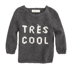 J Crew baby sweater by oeuf: Tres cool.