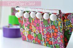 tape craft, duct tape, tape diy, clutch purse, clutches