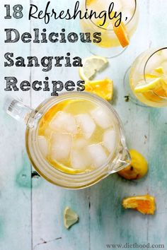 Next time you feel like you need to be in Spain, just grab a pitcher and a glass and pour yourself sangria! OK, so it's not exactly as awesome as an actual trip, but at least it's delicious. Plus, this fruity drink is perfect as the warm weather sets in and the flavor variations are practically endless. These 18 sangria recipes are sure to have you thirsting for more!