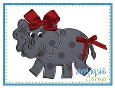 Elephant Girl Full Body Applique Design