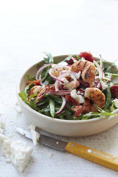 Santorini Shrimp Salad #myplate #fish #salad #veggies