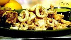 Mario Batali's Fried Calamari with Lemon Aioli recipe. #thechew