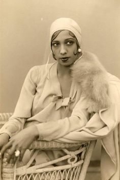 """Josephine Baker in1929 - Josephine Baker (1906-1975) was an American dancer, singer, and actress who found fame in her adopted homeland of France. She was given such nicknames as the """"Bronze Venus"""", the """"Black Pearl"""", and the """"Créole Goddess""""."""