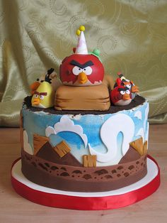 Angry Birds Cake by Leisl