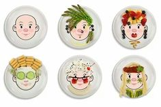 Food Face plate for kids!