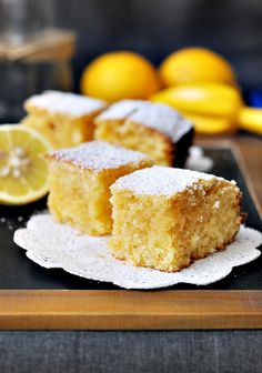 "Lemon & Coconut ""Brownies"""