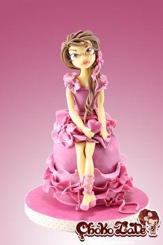 Lady Valentine made all out of home-made modelling chocolate.  -- ChokoLate - www.facebook.com/ChokoLateFancyCakes