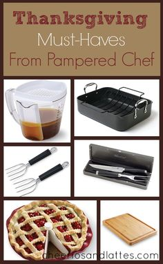Thanksgiving Must-Haves from Pampered Chef. Check out my website @ www.pamperedchef.biz/shemac