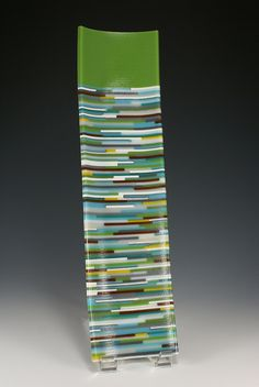 Fused glass platter. Perfect for sushi, appetizers, etc. www.elucook.com