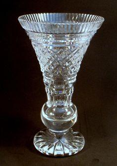 Waterford Crystal Signed Trumpet Vase