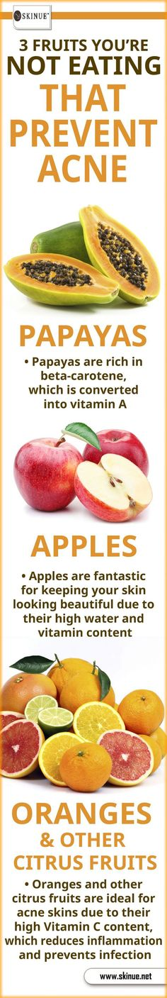 3 #Fruits_that_Prevent_Acne #Infographic #Acne #Fruits