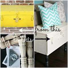 Awesome old trunk makeover! Turn an old trunk into a storage table!