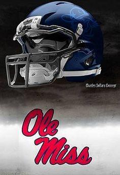 Ole Miss - University of Mississippi Rebels - concept football helmet