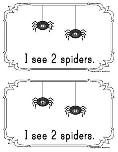 Counting Spiders:  Emergent Reader Freebie