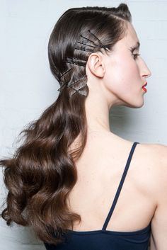 Visible Bobby Pins: