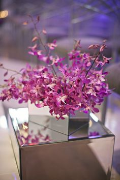 Radiant Orchid #coloroftheyear event planning by Events Luxe, floral design by The Crimson Petal,  photo by Switzerfilm http://www.theperfectpalette.com/2014/02/real-wedding-tara-spencer.html