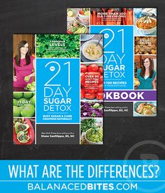 The differences between the 21 day sugar detox book and cook Book | balanced  bites