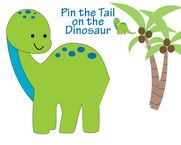 Pin the tail on the dinosaur game