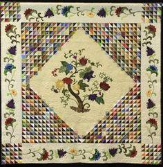 quilt design, galleri, 2013 quilt, scrap quilt, tree of life