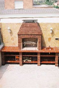 3 exterior design outdoor fireplace on pinterest 63 pins for Asadores de jardin