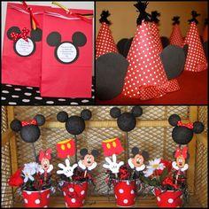 Cute Mickey & Minnie birthday party ideas...