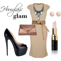Hourglass glam, created by b-anavi on Polyvore