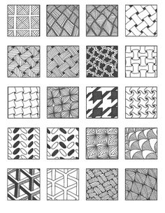 ZENTANGLE PATTERNS grid 4 | Flickr - Photo Sharing!