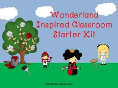 "Wonderland Inspired Classroom Starter Kit from Cruzin through School on TeachersNotebook.com -  (100 pages)  - ""Curiouser and curiouser!"" Your students are sure to love this Wonderland packet which includes classroom decorations, literacy and math activities."