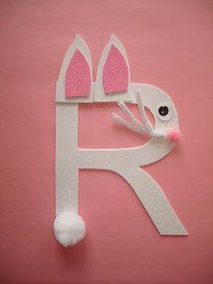 letter R rabbit craft