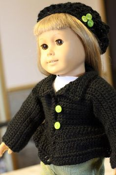 "Pattern for Bell Coat and Hat 18"" Dolls"