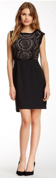 Beautiful Lasercut Detail Little Black Dress #LBD
