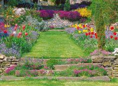 www.rustica.fr - Jardin d'ornement en pente - Aménager des gradins
