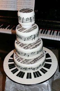 idea, piano art, tiered cakes, music cakes, piano sheet music, white weddings, white wedding cakes, pianos, birthday cakes