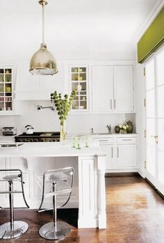 pop of green and lighting